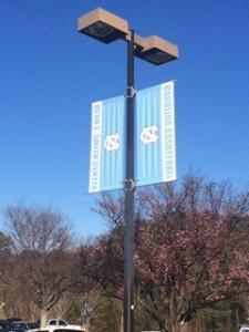 Carolina blue skies over the Smith Center 2-8-15.